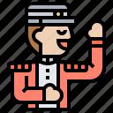 bellboy, doorman, hotel, lobby, service icon
