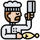 chef, cook, culinary, man, restaurant icon