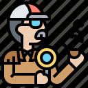 crime, detective, investigator, man, spy icon