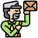 courier, delivery, mailman, postman, service icon