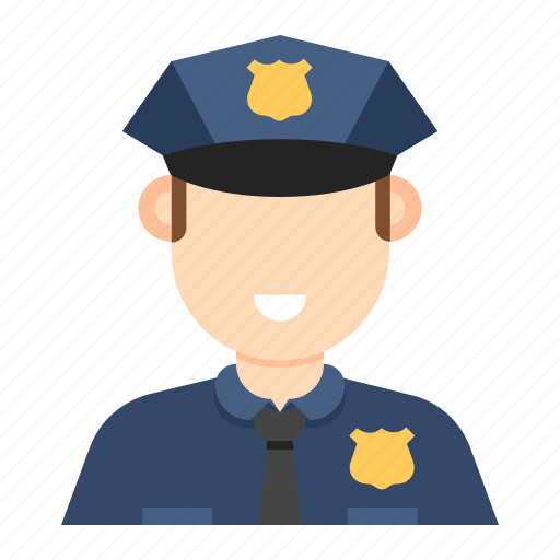 man, occupation, police, police man icon
