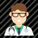 doctor, man, medical, occupation, stethoscope