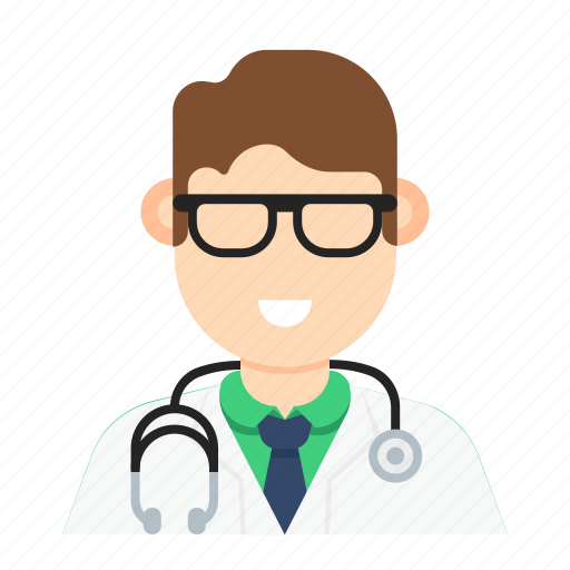 doctor, man, medical, occupation, stethoscope icon