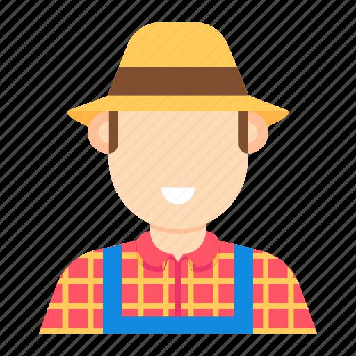 agriculture, farmer, man, occupation icon