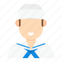 man, occupation, sailor, sailor man icon