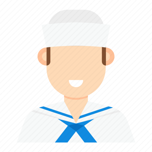 man, occupation, sailor, sailor man icon
