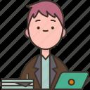 assistant, office, secretary, workspace, businessman