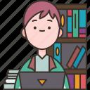 novelist, author, writer, columnist, studying