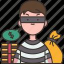 thief, bank, robber, stealing, criminal