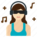 dj, female, music, occupation, woman icon