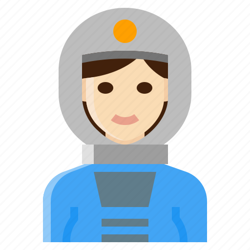 astronaut, female, occupation, space, woman icon