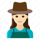 farmer, female, gardener, occupation, woman icon