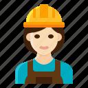 female, labor, laborer, occupation, woman icon