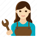 female, mechanic, occupation, woman, worker
