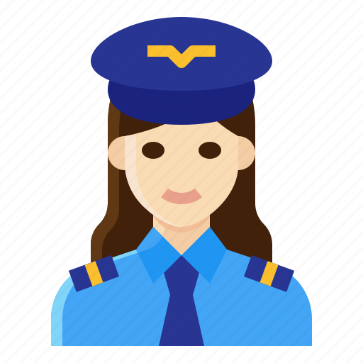 Aviator, captain, occupation, pilot, woman icon - Download on Iconfinder