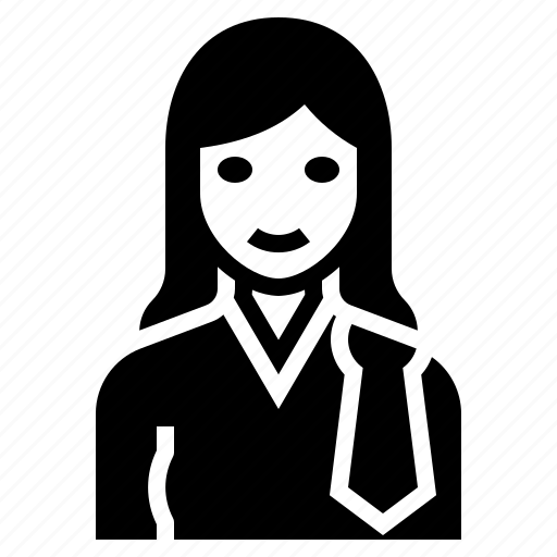 barrister, female, lawyer, occupation, woman icon