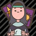 fortune, teller, horoscope, tarot, predict icon