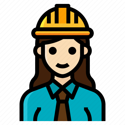 architect, engineer, female, occupation, woman icon