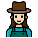 farmer, female, gardener, occupation, woman icon