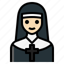 catholic, christian, nun, priestess, sister icon