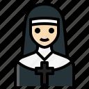 catholic, christian, nun, priestess, sister