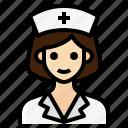 female, medical, nurse, occupation, woman icon