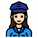 female, occupation, officer, police, woman icon
