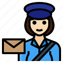 delivery, female, occupation, postman, woman