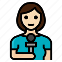 female, news, occupation, reporter, woman