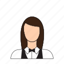 occupation, profession, restaurant, server, service, waitress icon