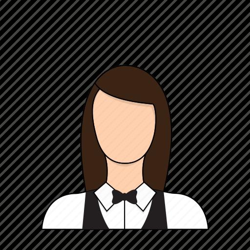 occupation, profession, restaurant, server, service, waitress icon