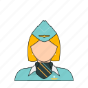 air, airlines, flight, occupation, plane, profession, stewardess icon