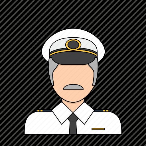 airline, flight, occupation, pilot, plane, profession icon