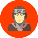 aviator, aeroplane, airplane, aviation, flight, fly, pilot icon