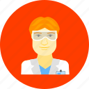 chemist, knowledge, professor, scientist, study, teacher icon