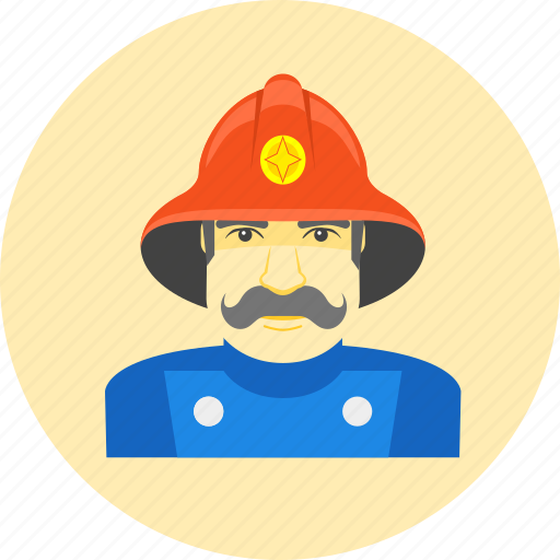 avatar, firefighter, fireman, human, male, occupation, profession icon