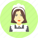 cleaner, cleaning, housemaid, lady, laundry, maid, waitress icon