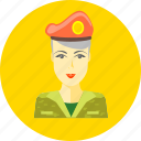 military, woman, profile, person, lady, female, soldier