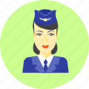 flight attendant, girl, hostess, person, stewardess, uniform, woman icon