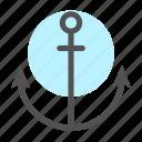 anchor, harbor, ocean, port, seal