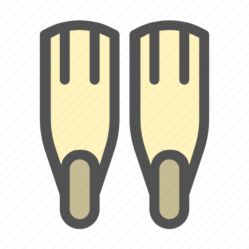 Diving, fin, fins, ocean, scuba icon - Download on Iconfinder