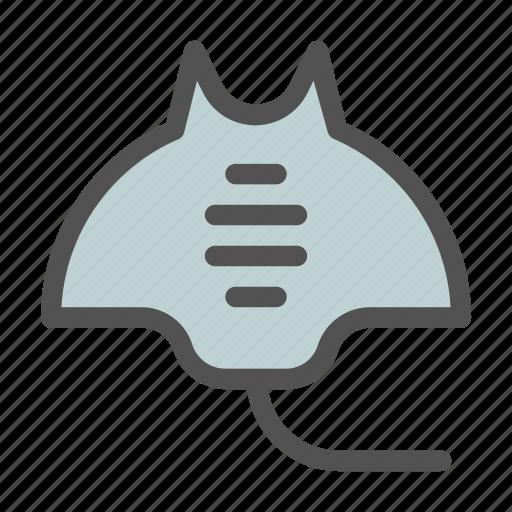 Creatures, fish, ocean, sea, stingray icon - Download on Iconfinder