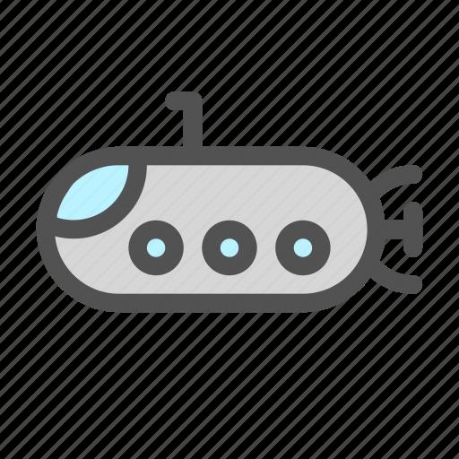 Boat, deep, ocean, sea, submarine icon - Download on Iconfinder