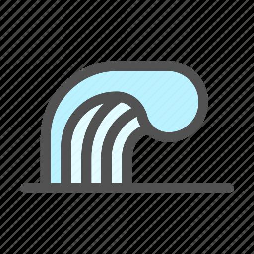 Ocean, sea, surf, wave, waves icon - Download on Iconfinder