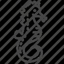 fish, life, marine, ocean, seahorse icon