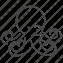 life, marine, ocean, octopus, seafood icon
