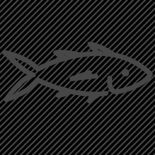 fish, life, mackerel, marine, ocean, seafood, tuna icon