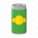 aluminum, beer, cans, cartoon, metallic, sign, steel icon