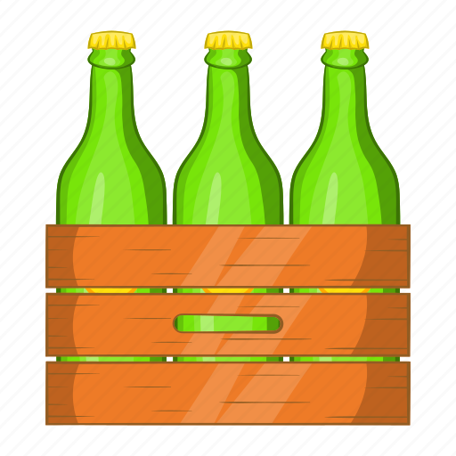 beer, bottle, box, cartoon, drink, glass, sign icon