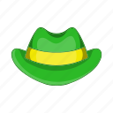 cartoon, green, hat, holiday, illustration, irish, sign icon